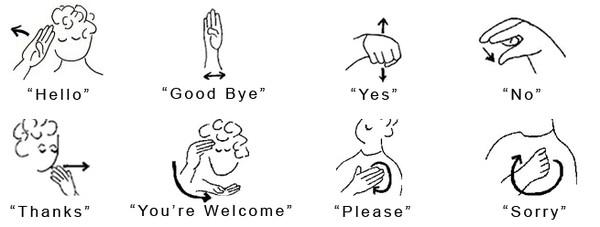 Favori ASL Langue des Signes Américaine *** OZ79